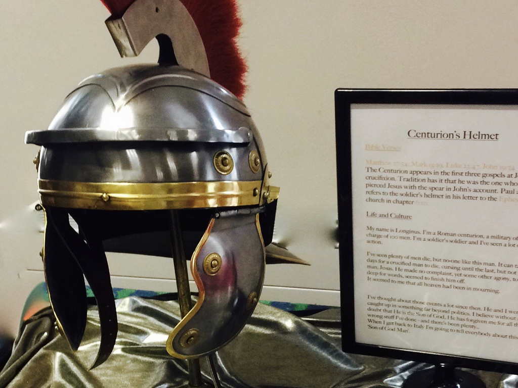 Photo of a Roman Centurion's helmet