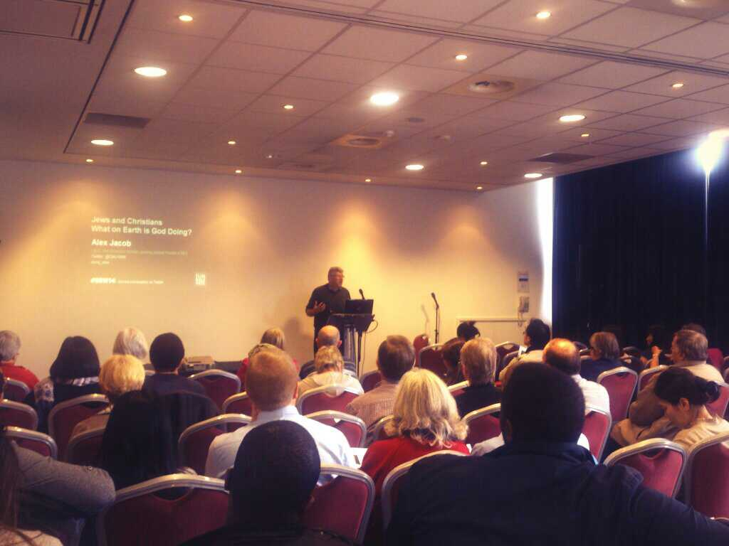 Rev. Alex Jacob (CEO of CMJ UK) speaking at the Elim Conference in London