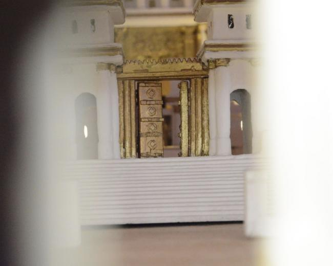 Photo of the Temple model