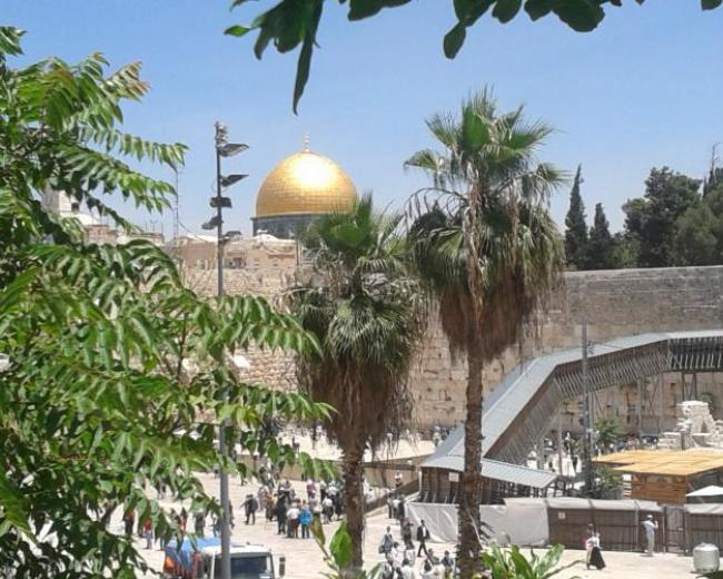 The Temple Mount, where 3,000 people responded to the message of Peter on the Day of Pentecost. Photo: Charles Gardner